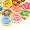 Bite me Squishy Simulation Food Toy 5cm Mini Soft Donuts Bread Scented Chocolate Covered Sweet Roll Collectibles