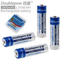 LSD Doublepow 4 unids 1.2 V AA 2800 mAh Ni-MH Batería Recargable con Agujero Radiante para Los Juguetes/Linternas/cámaras