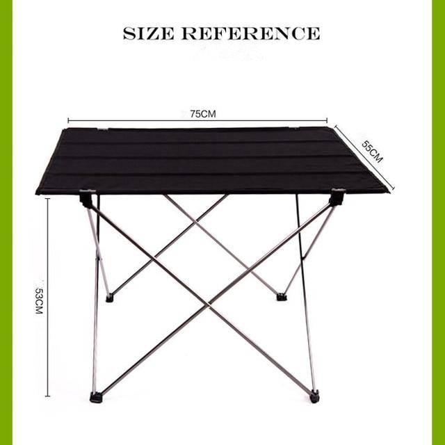 Портативный складной стол для кемпинга на открытом воздухе пикника 6061 ульсветильник из алюминиевого сплава
