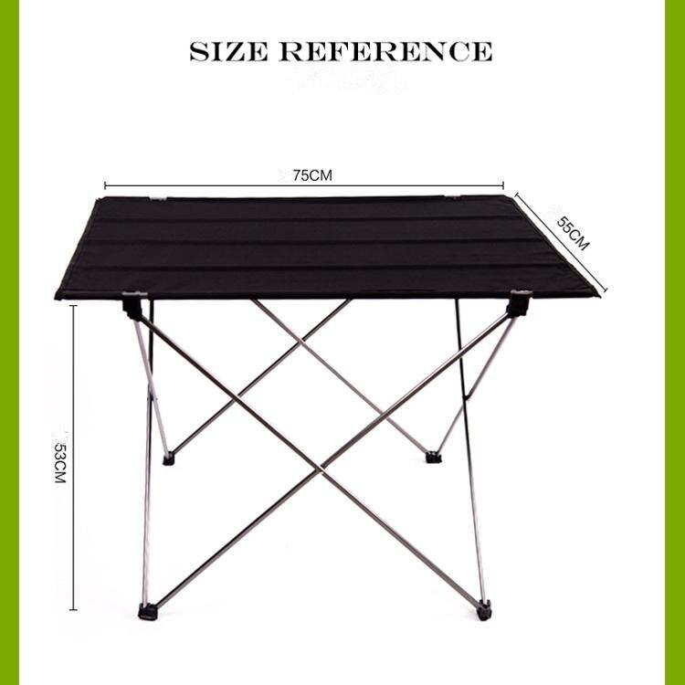 Table pliante pliable Portable bureau Camping pique-nique extérieur 6061 alliage d'aluminium Ultra-léger