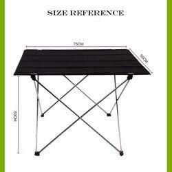 Mesa plegable portátil escritorio Camping Picnic al aire libre 6061 aleación de aluminio ultraligero