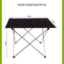 Portable pliable Table pliante bureau Camping pique nique extérieur 6061 alliage daluminium Ultra léger