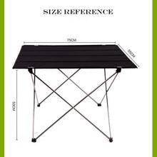 Taşınabilir katlanabilir katlanır masa danışma kamp açık piknik 6061 alüminyum alaşımlı Ultra hafif