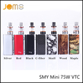 Halloween SMY Mod Potencia Variable de Cigarrillo Electrónico Mini 75 W VTC Vaping Mod 7 Colores 75 W Caja Mod Ecig Vape Mod OLED Jomo-57