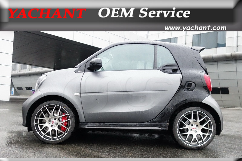 Car Styling Portion Carbon Fiber Gl Bodykit Side Skirts Fit For 15 17 Smart Fortwo C453 Forfour W453 Amg Style In Front Skirt From