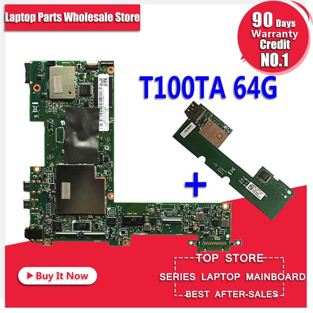 Original for ASUS T100T T100TA 64G motherboard T100TA REV2.0 Mainboard 100% tested send board t100ta motherboard 64gb for asus t100ta t100taf t100t laptop motherboard t100ta mainboard t100ta motherboard test ok