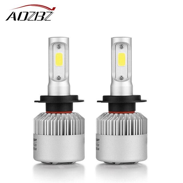 AOZBZ COB H7 LED Headlight 72W 8000LM Car LED Headlights Bulb Headlamp Auto Fog Front Light 12V Auto Replacement Parts 6500K