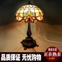 European classic Baroque retro living room sofa table lamp bedroom bedside lamp decorative lamp stained glass exit lights