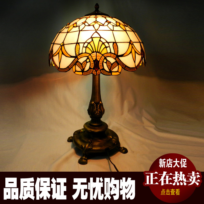 European classic Baroque retro living room sofa table lamp bedroom bedside lamp decorative lamp stained glass exit lights fumat stained glass table lamp high quality goddess lamp art collect creative home docor table lamp living room light fixtures