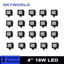 20 pcs 4 inch 18 W LED TRABALHO LIGHT 12 V 24 V luz de Nevoeiro Traseira 4X4 Picape Carro Trator Reboque Offroad Truck ATV SUV Bumper Bar Luz de Trabalho