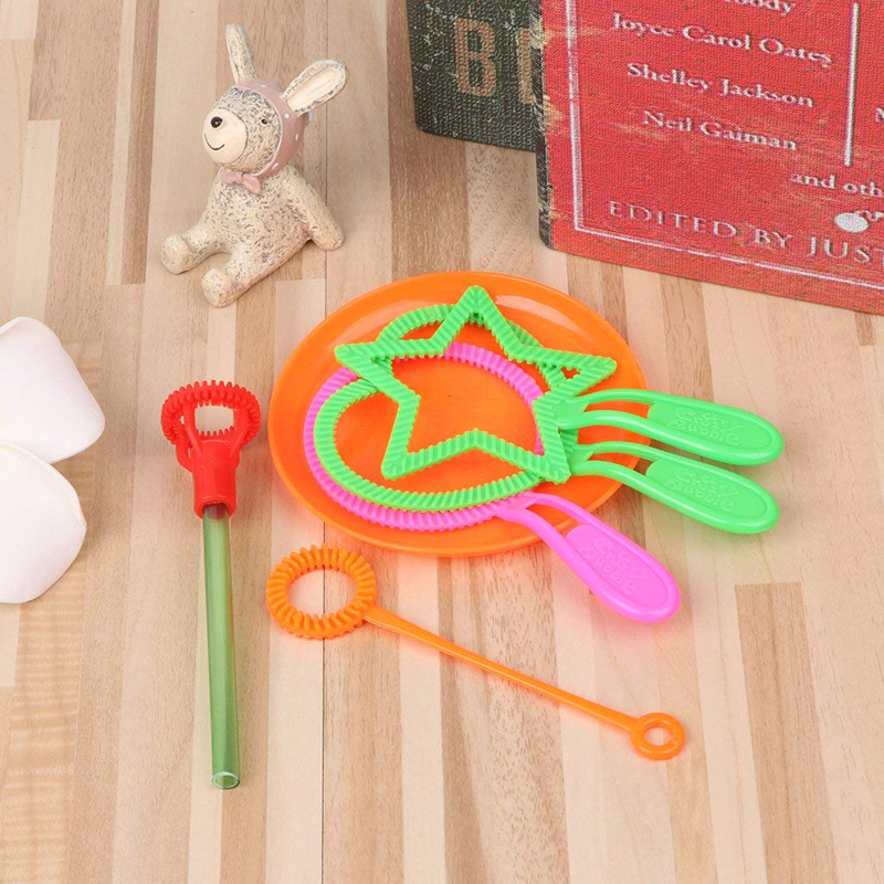 New Boy Girl Education Toy Gifts Kids Blowing Bubble Bar Toys For Children Summer Outdoor Fun Games Soap Liquid Not Included