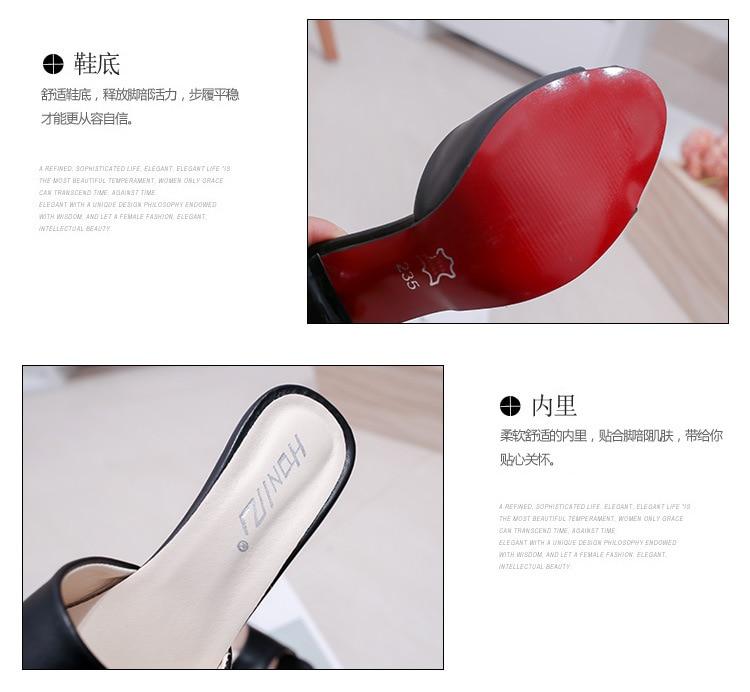 HTB1SR5lbEzrK1RjSspmq6AOdFXaX HOKSVZY Women Slipper 2019 Slippers women's Fashion Wear Stiletto Fish Mouth Stiletto Sandals Slippers women's Sandals FZZ-2902