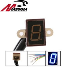 Free shipping Super 6 Speed display Universal Digital off-road Motorcycle motocross light Neutral Gear Indicator display