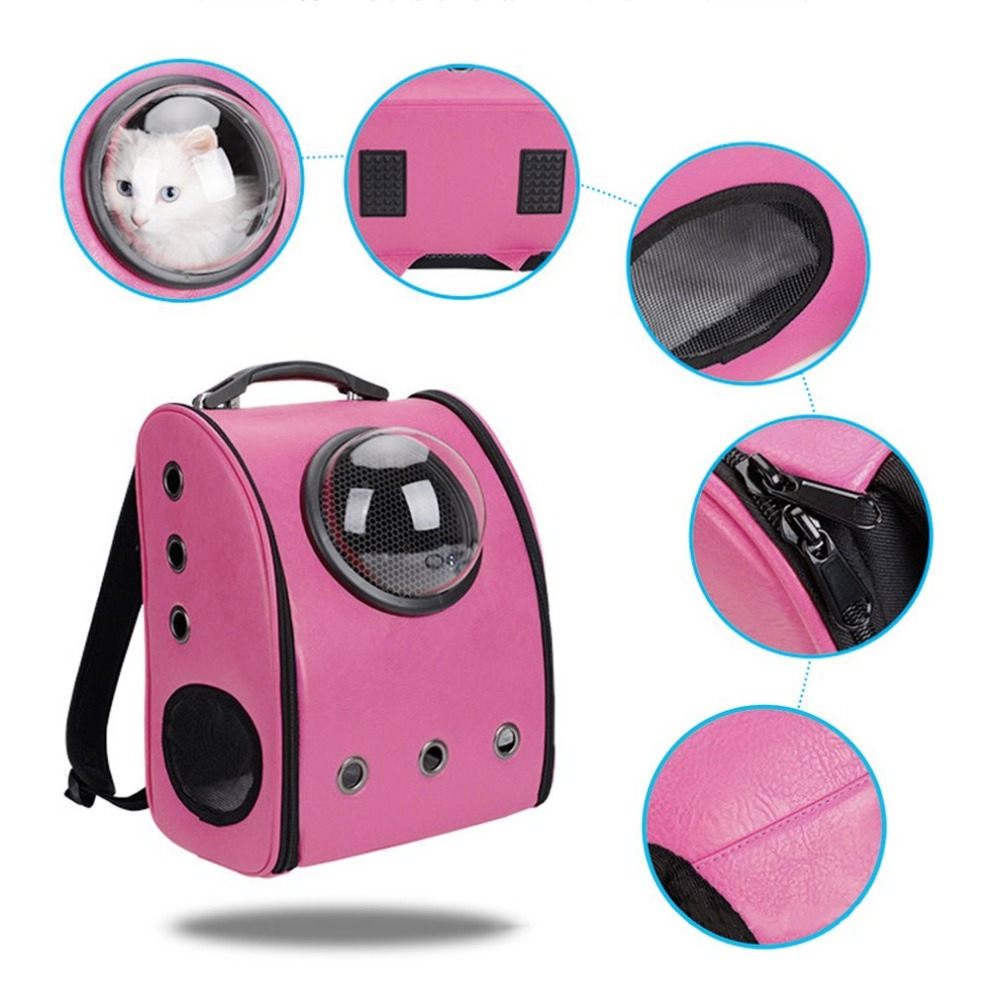 Space Cabin Breathable pet Cat dog Carrier backpack Outdoor portable Package bag Pet Travel Carrier Capsule Shape 4 colors