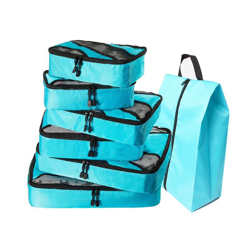 Packing Cubes for Travel - Luggage Organizer Bags  Accessories - Ultralight (Grey)(Red) Overnight Bag Duffle Bags Weekend Bag