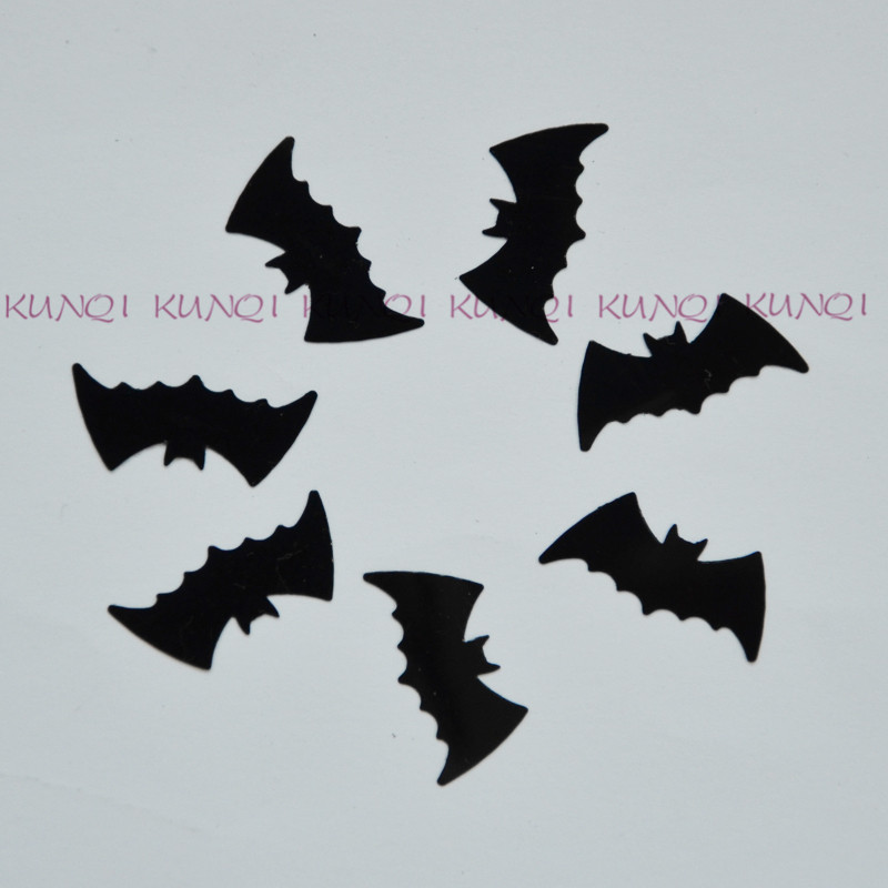 650pcs1200pcslot 2110mm black halloween bat loose sequins beautiful crafts for - Halloween Bats Crafts