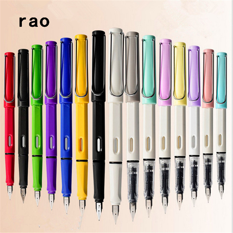High Quality 555 Colors Student School Office  F And EF Nib Fountain Pen  New The Best Gift  Ink Pen Stationery Supplies