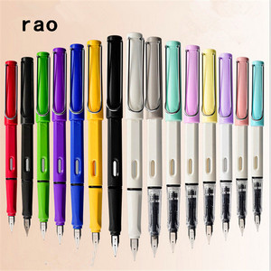 High quality 555 Colors Student School office F and EF Nib Fountain Pen New The best gift ink pen stationery supplies(China)