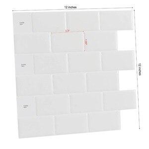 Image 2 - Nhà Bếp Backsplash Ốp Bóc Và Dán Gạch Trắng Tàu Điện Ngầm Cho Nhà Bếp, Nhà Tắm 10 Miếng 12 X 12