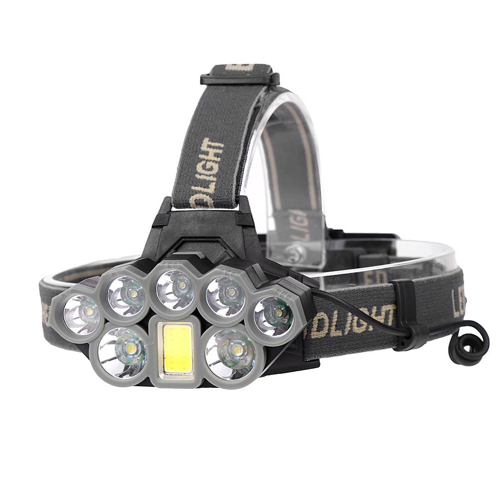 90000 Lumens XMLT6 8T6 LED Headlights USB Charging Headlights Long-range Fishing Headlights Outdoor Glaring Headlights Head Lamp