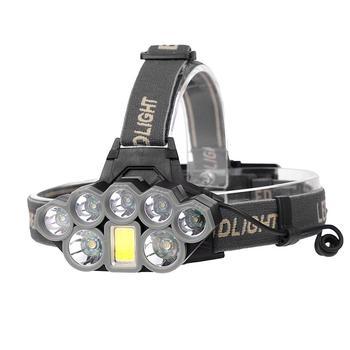 90000 Lumens XMLT6 8T6 LED Headlights USB Charging Long-range Fishing Outdoor Glaring Head Lamp