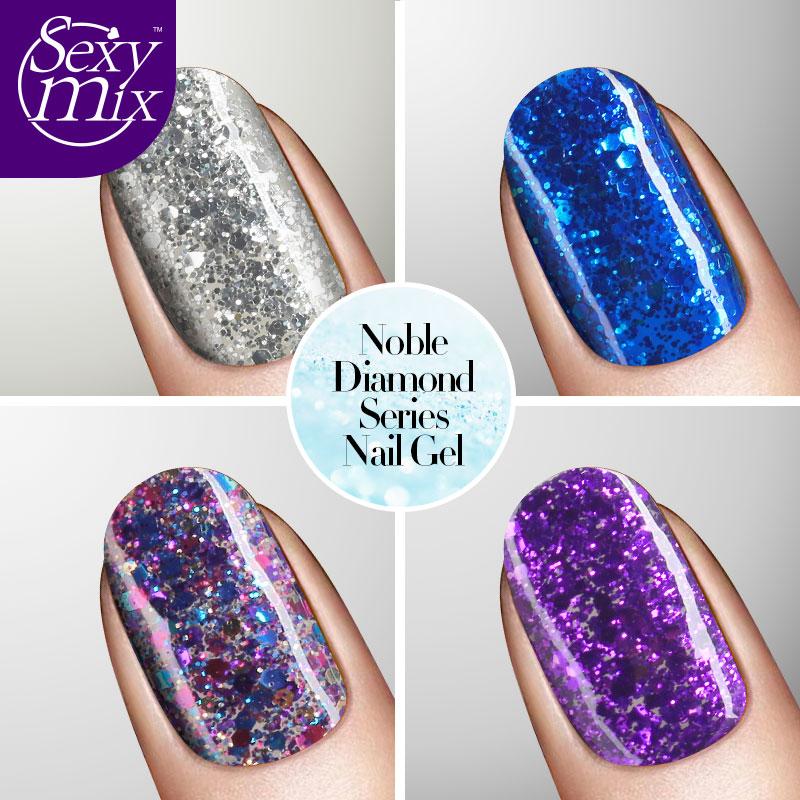 Sexymix 2017 Colorful Professional Glitter Effect Կապույտ - Մանիկյուր - Լուսանկար 5