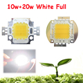 1pcs 10W + 20w 45mil White Full Spectrum 380~780nm LED Bulb Chip Part Light Diode Better Than Full Spectrum For Plant Grow Light