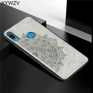 Image 1 - Huawei Y6 2019 Shockproof Soft TPU Silicone Cloth Texture Hard PC Phone Case For Huawei Y6 2019 Back Cover Huawei Y6 Prime 2019