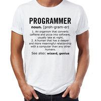 Programmeur Naamwoord Job Mens Grappige T-shirt Kerstcadeau T-Shirt Humor Korte Mouwen Nieuwe Mode T-Shirt Mannen Kleding