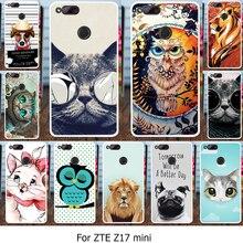 Akabeila силиконовый чехол для телефона Чехлы для ZTE Нубия Z17 Mini Нубия Z12 мини 5.2 дюймов случае ТПУ животных Кошки parttern Обложка телефон сумка