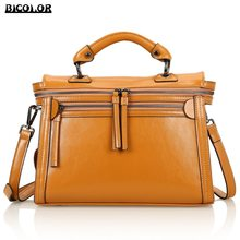 BICOLOR Women Handbags Women Genuine Leather Handbags Luxury Handmade Bags Tote bags for girl Messenger Bags lady shoulder bags