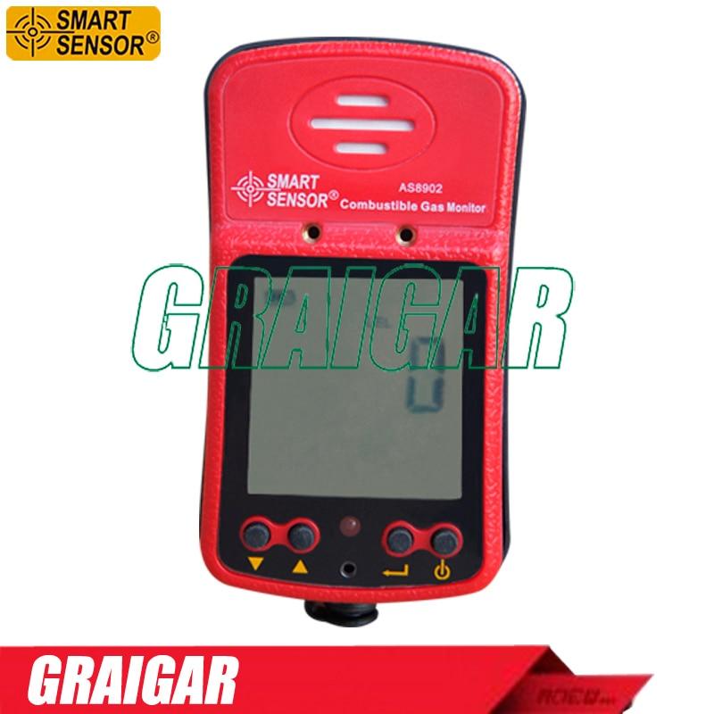 Portable Industrial Combustible Gas Detector Gas Leak Device Smart Sensor AS8902