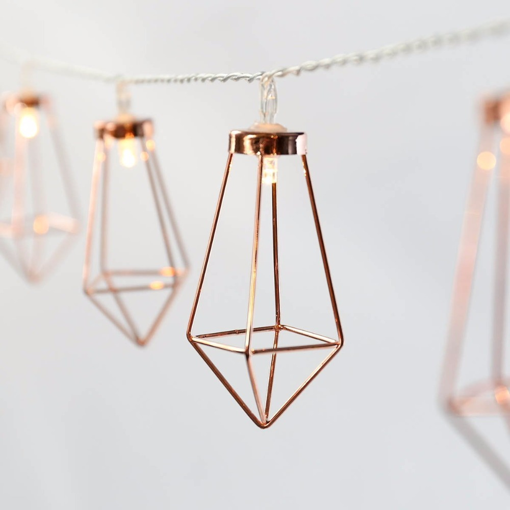 Novelty led fairy lights 20 metal string light battery for Decoration maison rose gold