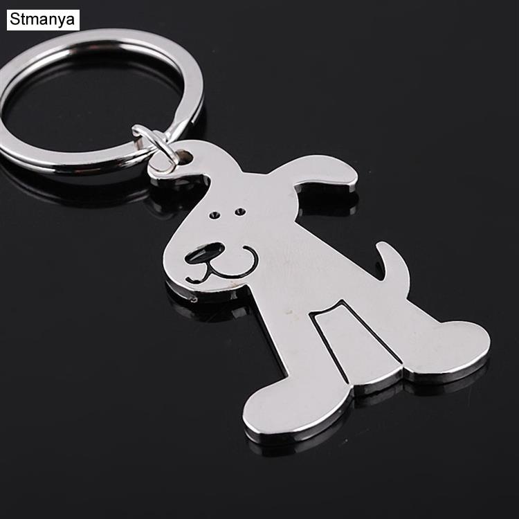 Metal Dog Keychain Key Ring Fashion Animal Key Chain Personalized Car Key Holder Pendant Women Bag Charms Key Ring Accessory