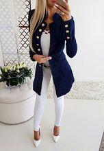 Long Sleeve Women Streetwear Slim Blazer Coat Fashion Outerwear Single Breast Female Overcoat Spring Autumn Outerwear Women Coat