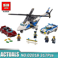 02018 LEPIN City Police High Speed Chase Set Building Blocks 317 Pcs DIY Toys For Children
