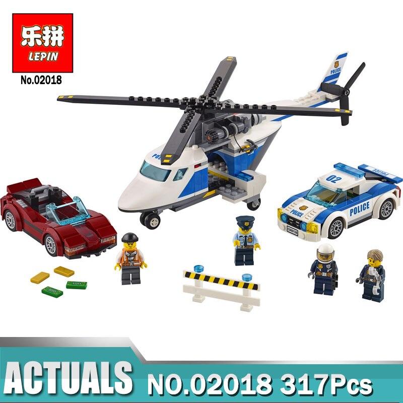 02018 LEPIN Ville Police Haute-Vitesse Chase Mis Blocs de Construction 317 Pcs BRICOLAGE Jouets Pour Enfants Compatible Legoing 60138 modèle