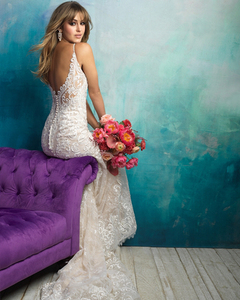 Image 3 - 2020 New Arrive Gelinlik Spaghetti Straps V neck Backless Beading Appliques Lace Sexy Mermaid Wedding Dress Vestido Noiva Sereia