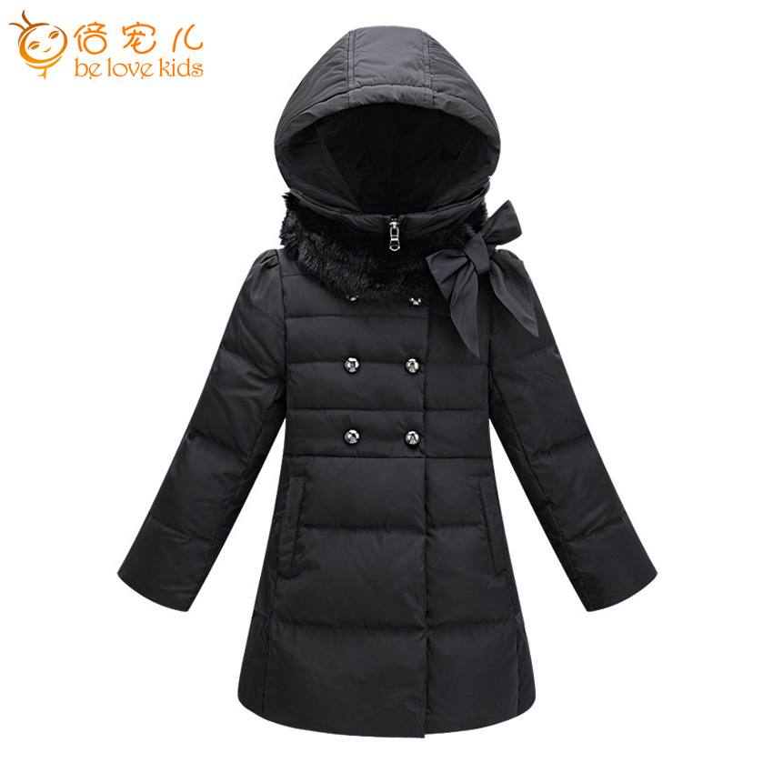 2016 new style winter girls coat long white duck down coat thick warm hooded girls parka jackets children clothing ZL62-1 new winter baby girls clothes white duck down parka warm goose down jackets for kid warm long coats big fur hooded for children