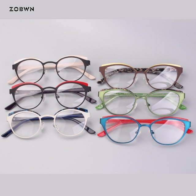 8164123e8a1 wholesale round children eyeglasses metal mixed acetate green Goggles  Reading Glasses UV400 cat eye kids harry pottoer Glasses