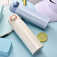 350/500 ML Thermos Cup Stainless Steel Bouncing Cover Bottle Vacuum Flasks Portable Travel Mug Thermo Gifts Thermocup