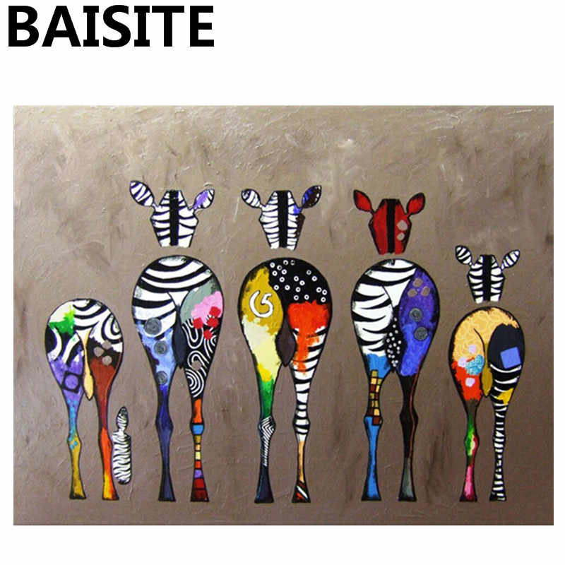 BAISITE Framed Picture DIY Oil Painting By Numbers Painting&Calligraphy Of Lovely Animals Modern Picture Home Decor E862 40x50cm