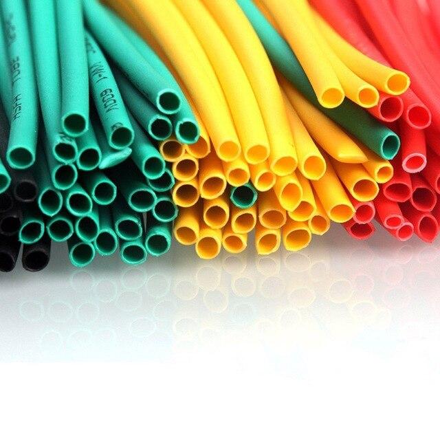 164 szt. Zestaw termokurczliwy poliolefinowy rurka termokurczliwa drut kablowy izolowany zestaw rękawa CLH @ 8
