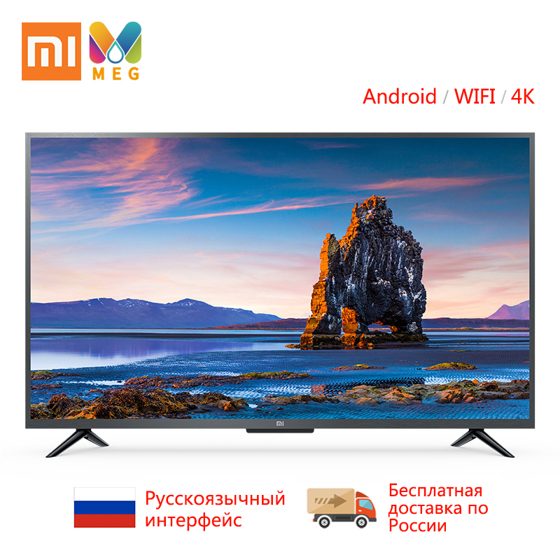 Xiaomi TV televisão 4K andriod Smart TV LED 4S-43 polegada 1G + 8G Personalizado idioma Russo | multi language