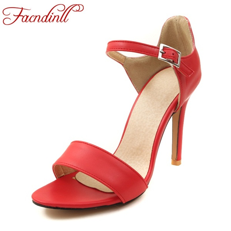 2018 woman sandals sexy ankle strap super thin high heels fashion open toe summer beach casual dress party shoes women nude pump