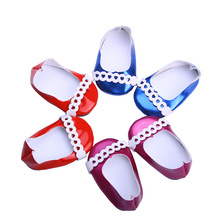 Various styles of leather shoes for 18 inch American girl doll for baby gift, Doll accessories