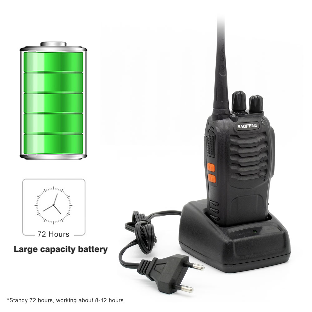 Image 3 - 4pcs Baofeng BF 888S Walkie Talkie UHF 5W 400 470MHz Handheld Two Way Radio hf FM Transceiver Comunicador Ham CB Radios BF 888s-in Walkie Talkie from Cellphones & Telecommunications