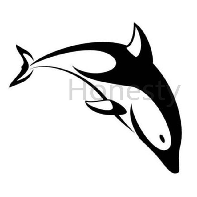 Funny Dolphin Car Wall Home Glass Window Door Car Sticker Auto