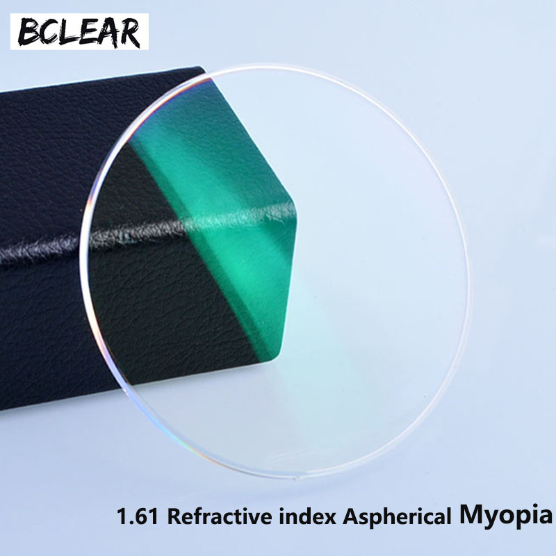 BCLEAR 1,61 Index Resin-linser Optisk Objektiv UV400 Reflekterende Coating Objektiv Optiske Glasser Eyeglass for nærsynthet Kortsynthet
