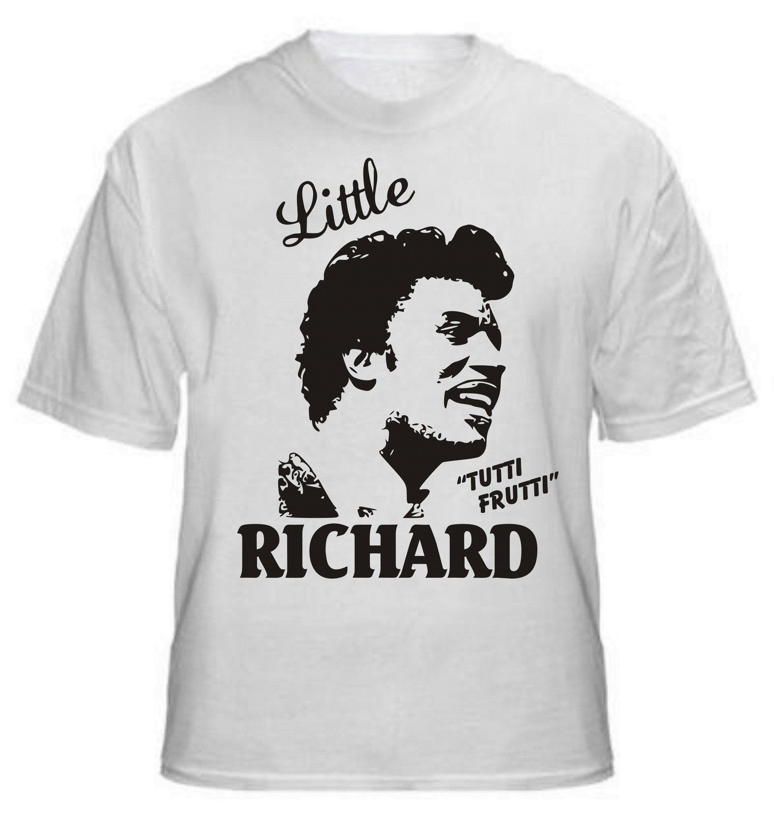 2017 Newest Cool Little Richard Tutti Frutti T Shirt RockNRoll Legend-All 3D Print Mens 100% Cotton Short Sleeve Tee